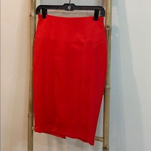 The Limited red skirt